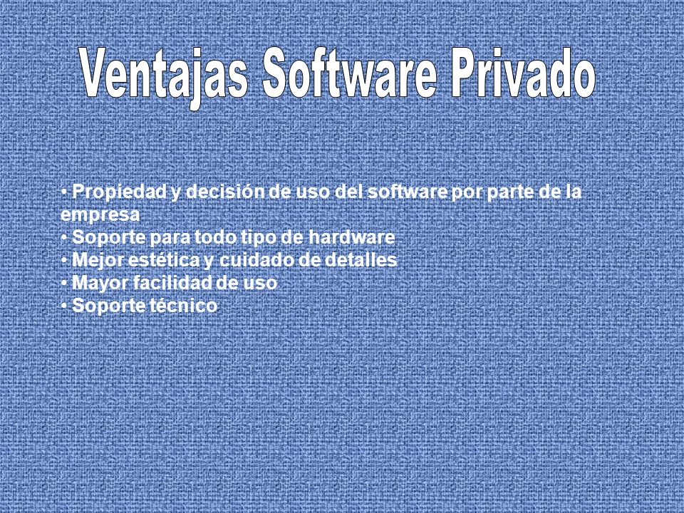 Ventajas Software Privado