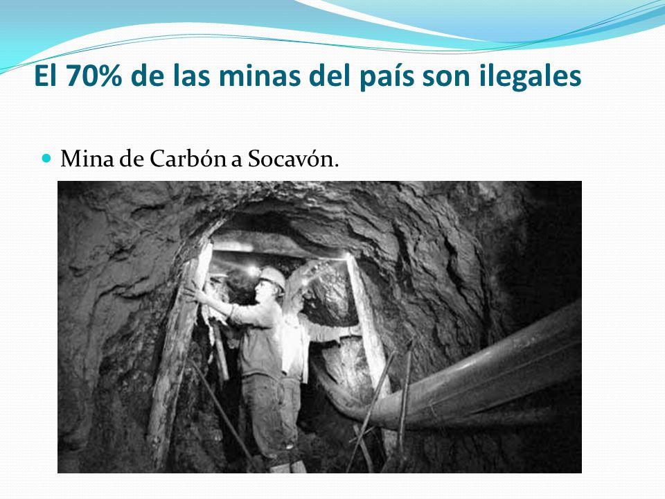 El 70% de las minas del país son ilegales