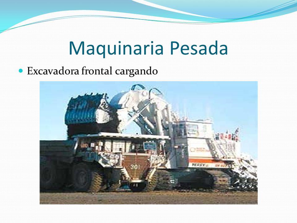 Maquinaria Pesada Excavadora frontal cargando