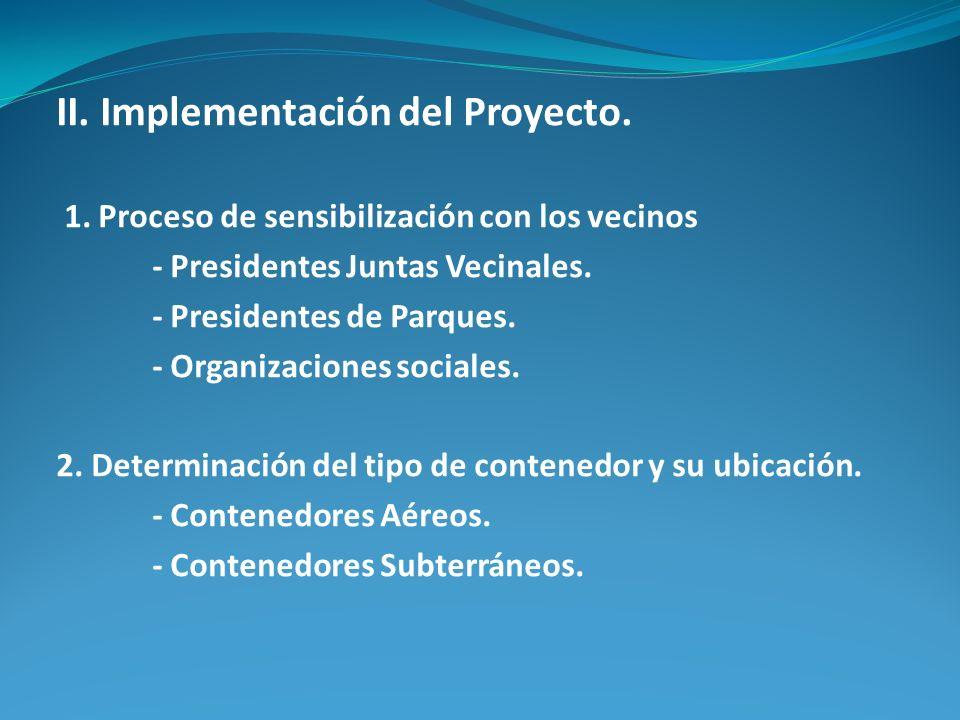 II. Implementación del Proyecto.