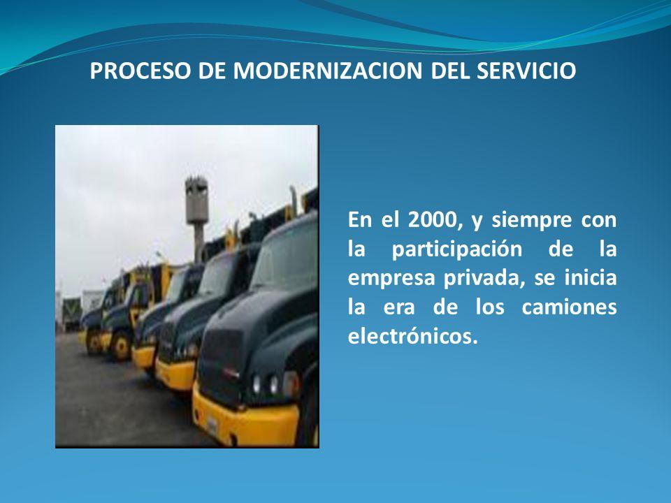 PROCESO DE MODERNIZACION DEL SERVICIO