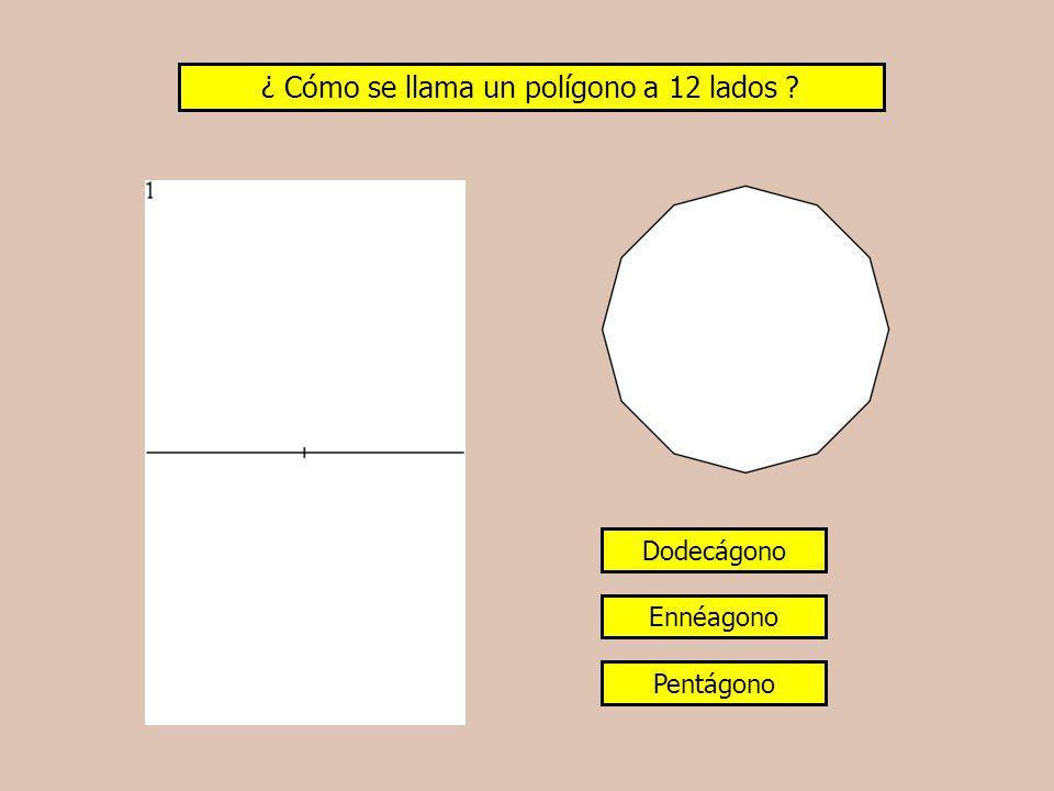 ¿ Cómo se llama un polígono a 12 lados