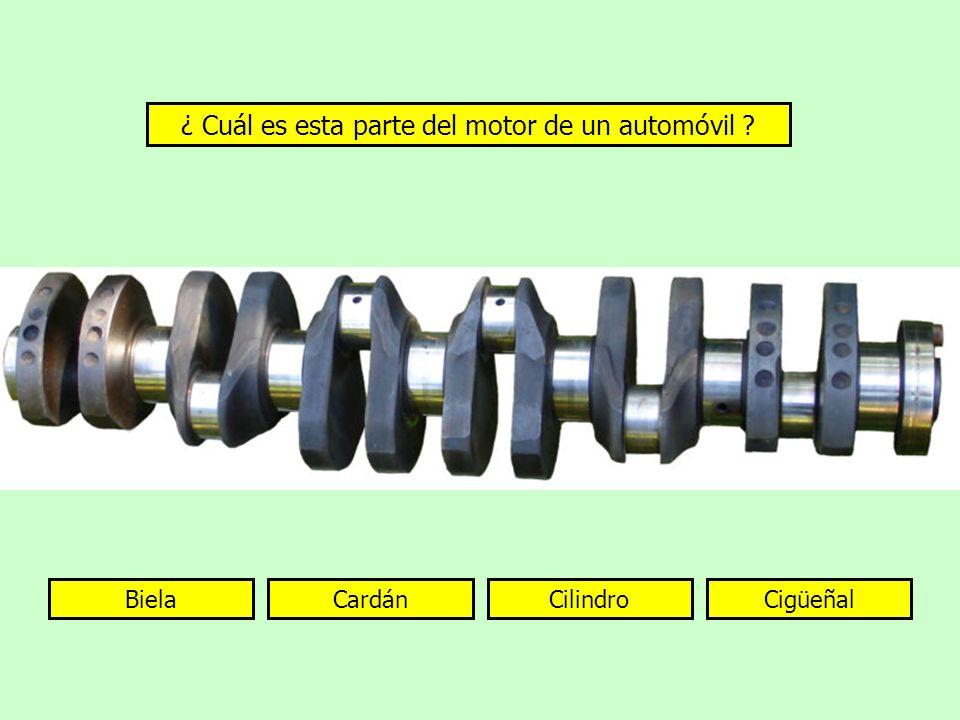 ¿ Cuál es esta parte del motor de un automóvil
