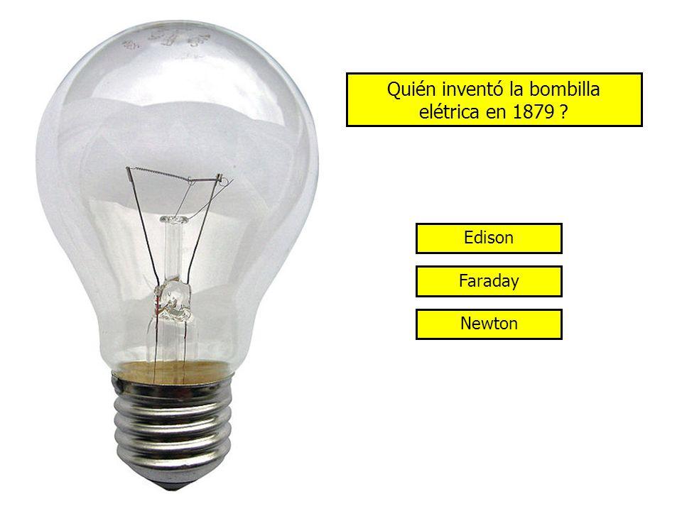 Quién inventó la bombilla elétrica en 1879