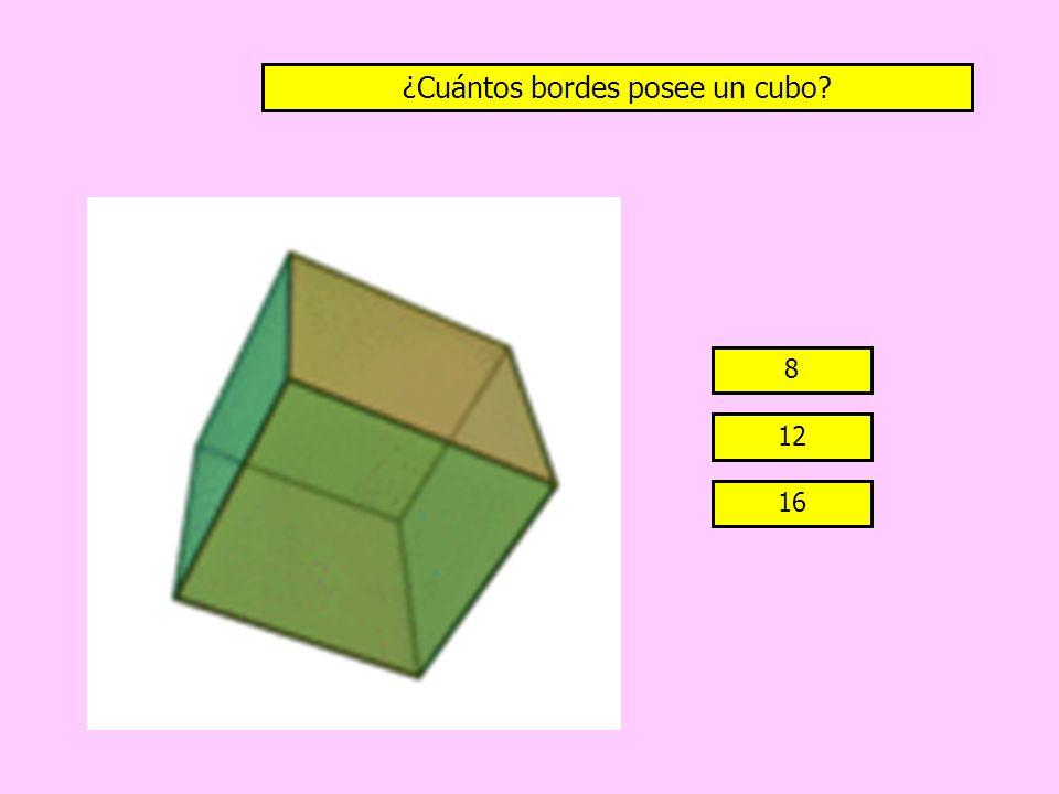 ¿Cuántos bordes posee un cubo