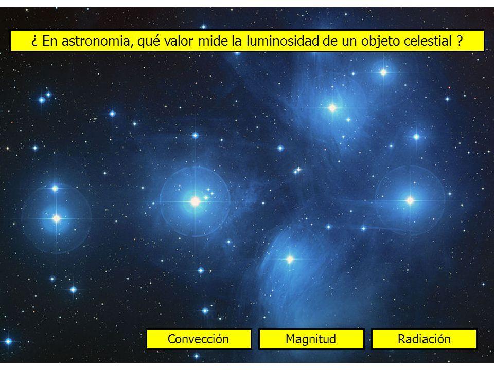 ¿ En astronomia, qué valor mide la luminosidad de un objeto celestial