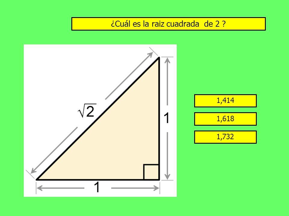 ¿Cuál es la raiz cuadrada de 2
