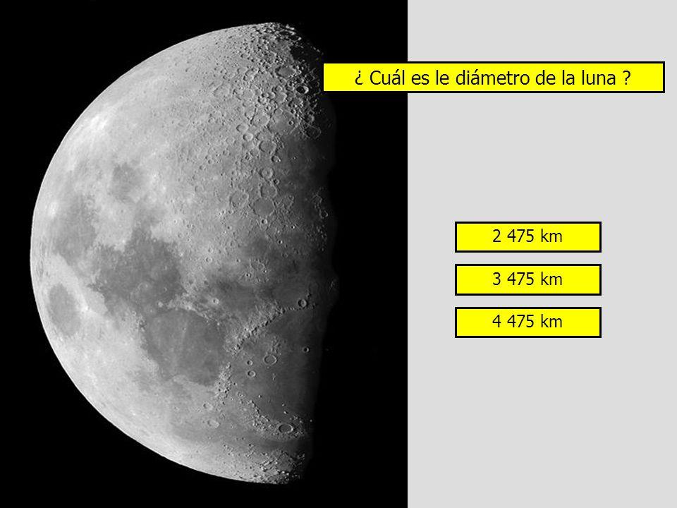 ¿ Cuál es le diámetro de la luna