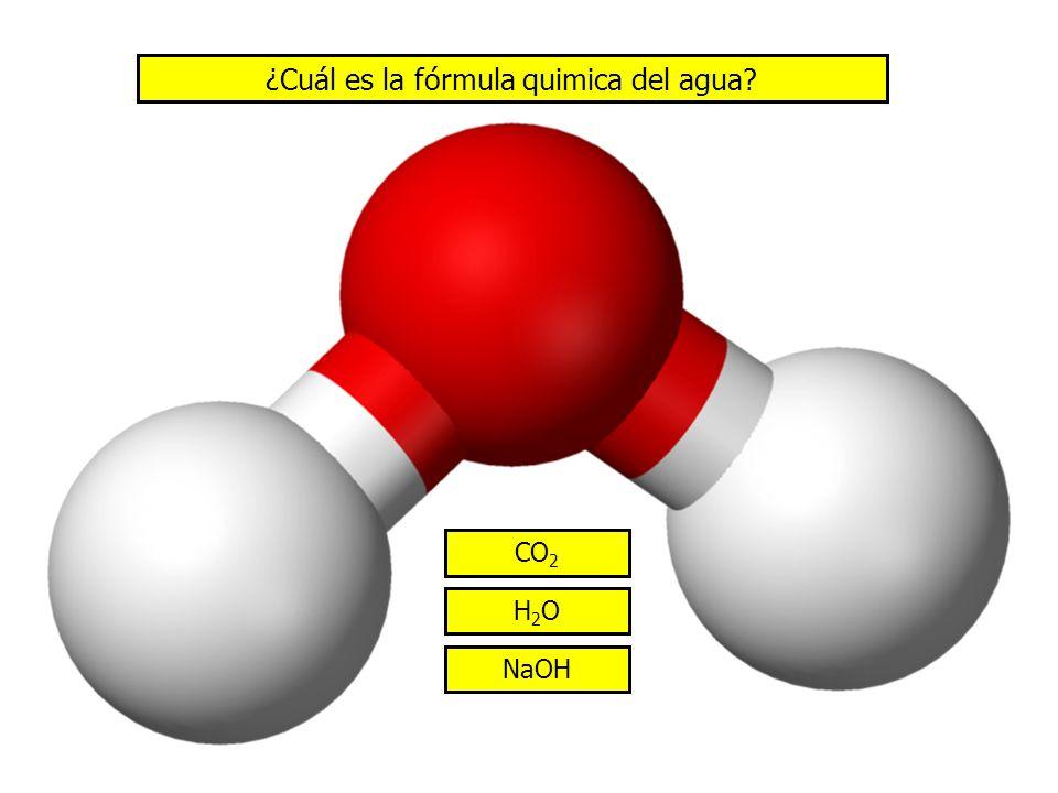 ¿Cuál es la fórmula quimica del agua