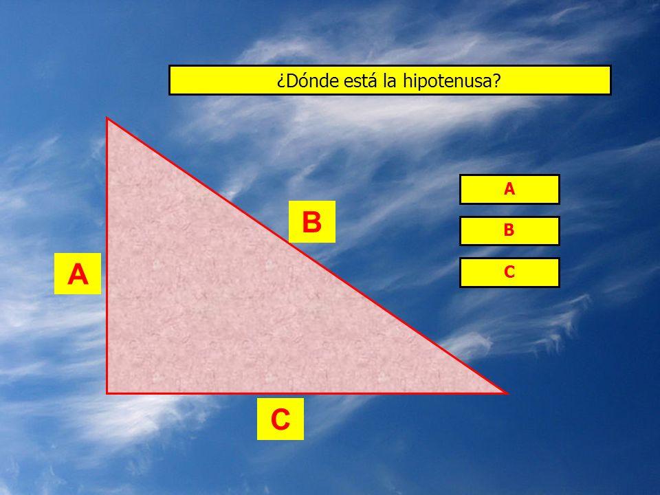 ¿Dónde está la hipotenusa