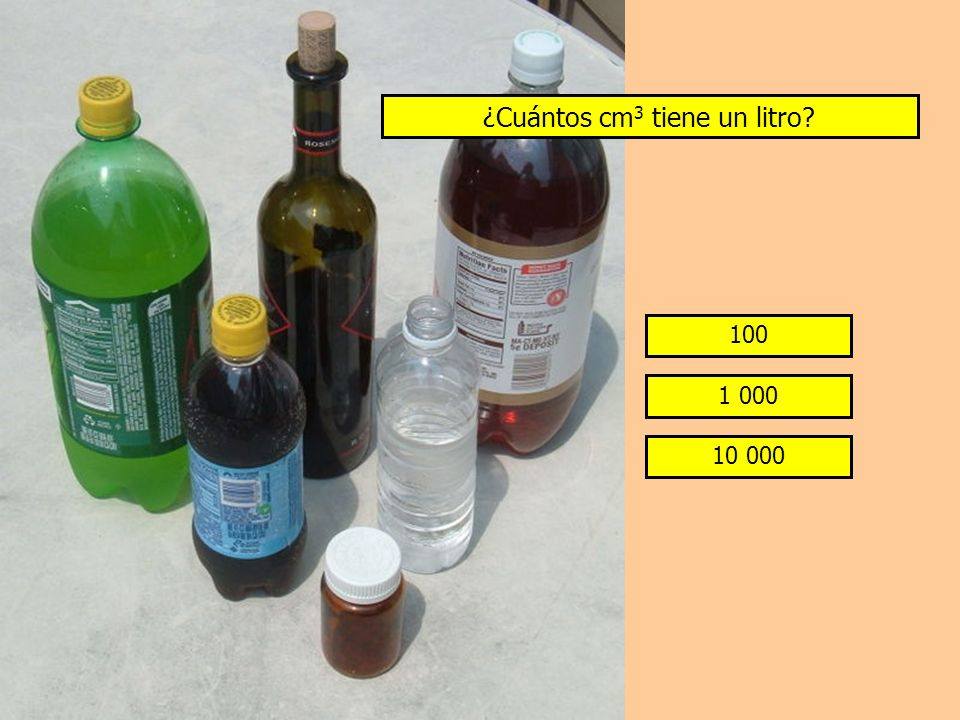 ¿Cuántos cm3 tiene un litro