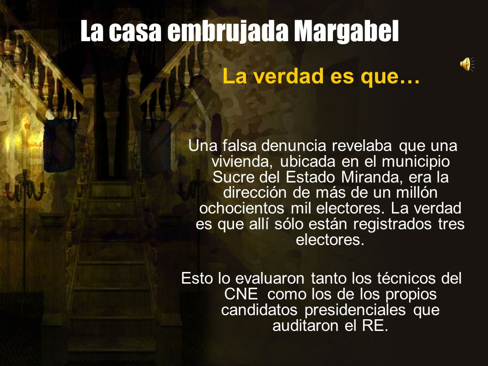 La casa embrujada Margabel