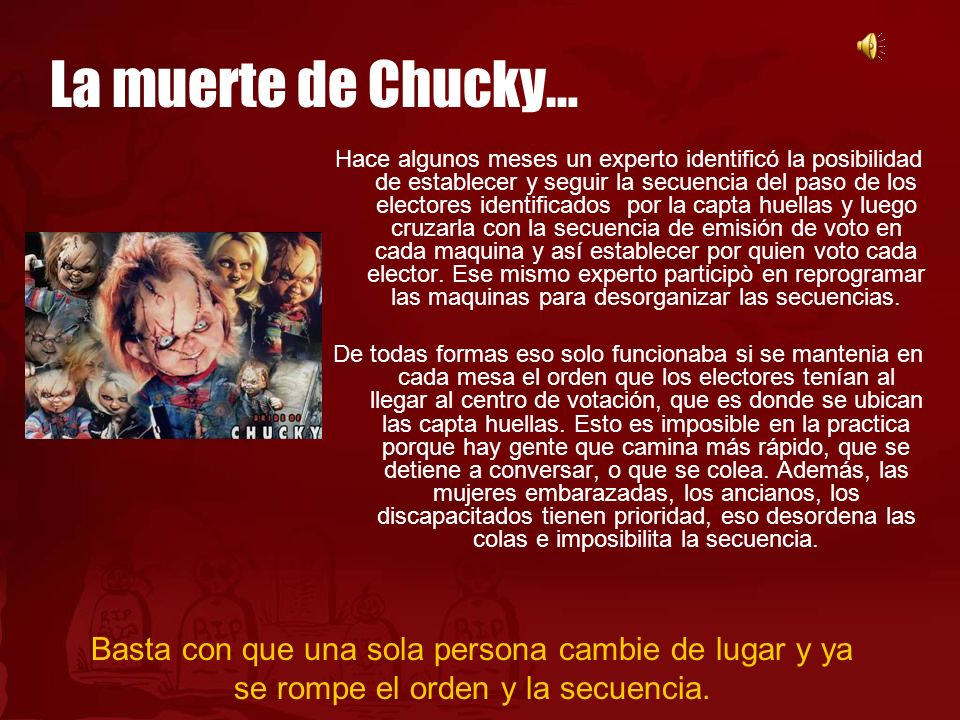 La muerte de Chucky…