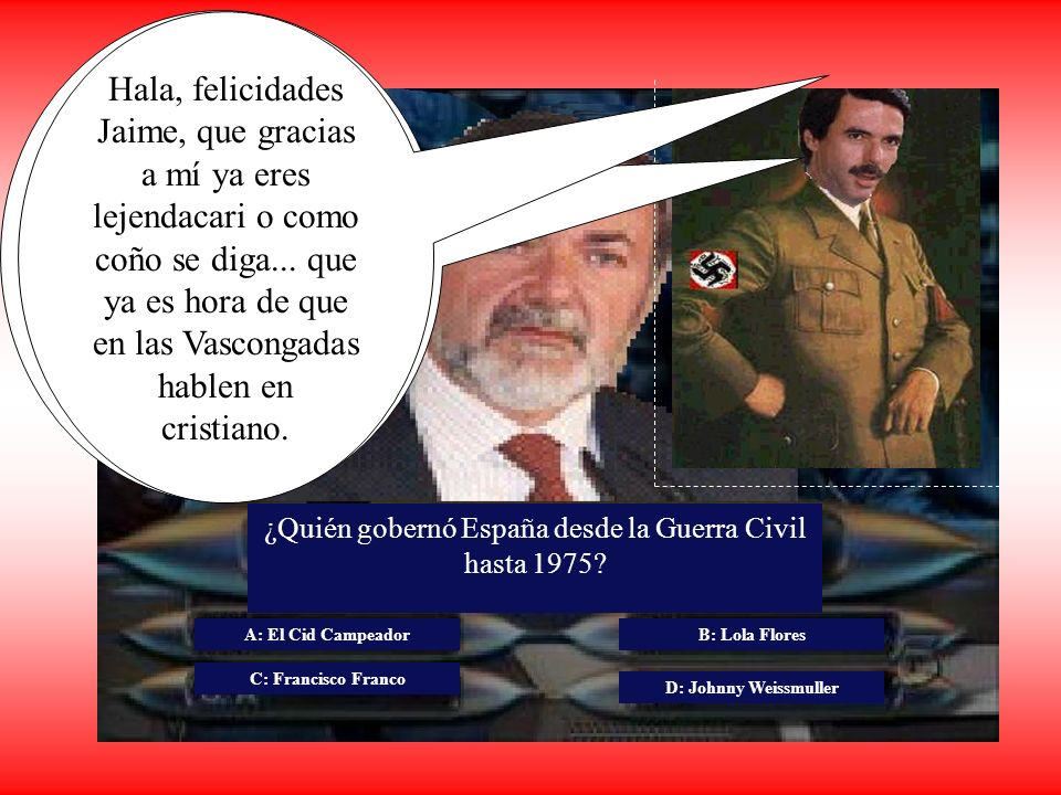 ¿Quién gobernó España desde la Guerra Civil hasta 1975