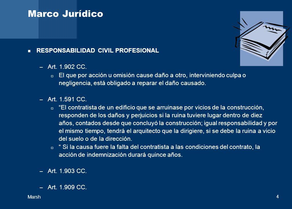 Marco Jurídico RESPONSABILIDAD CIVIL PROFESIONAL Art. 1.902 CC.