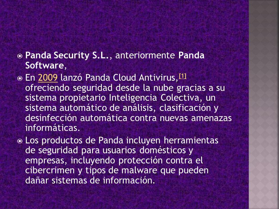Panda Security S.L., anteriormente Panda Software,
