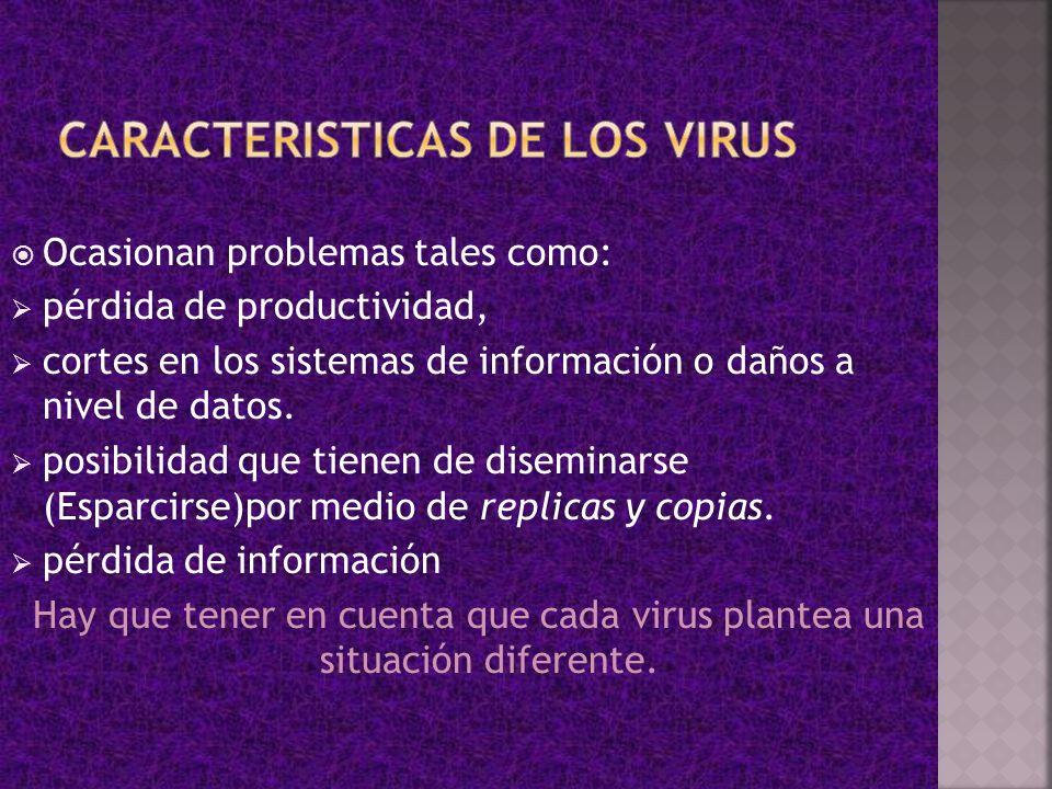 CARACTERISTICAS DE LOS VIRUS