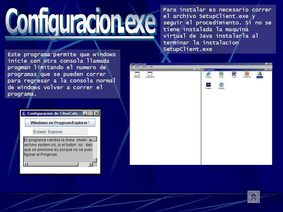 Para instalar es necesario correr el archivo SetupClient
