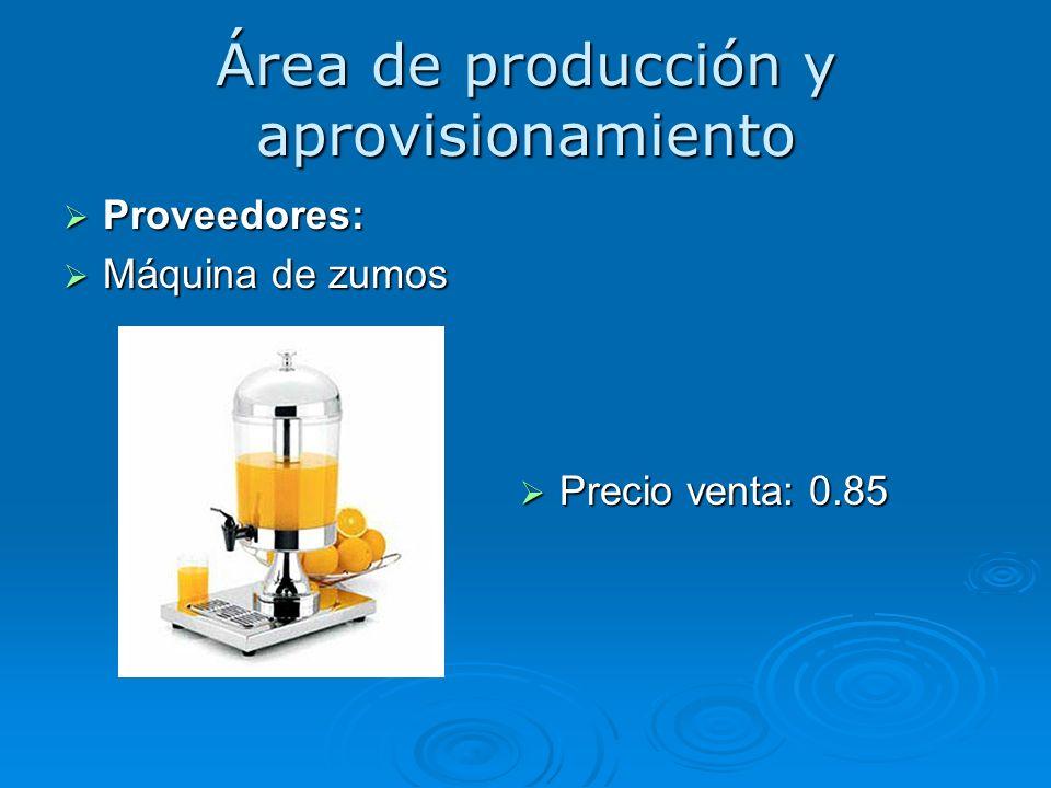 Área de producción y aprovisionamiento