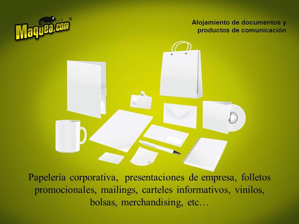 Alojamiento de documentos y productos de comunicación