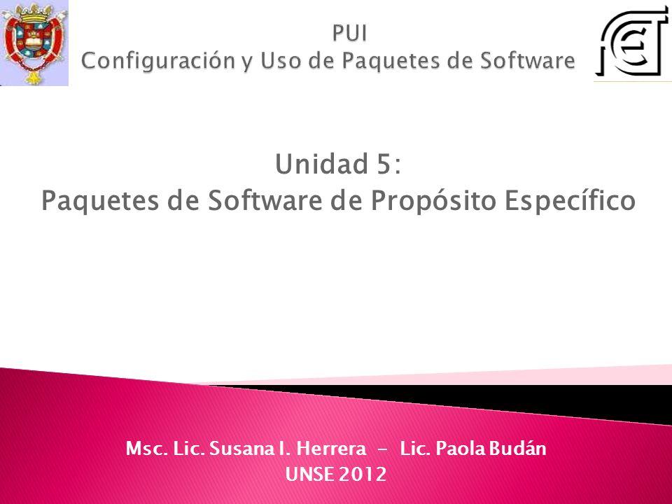 PUI Configuración y Uso de Paquetes de Software