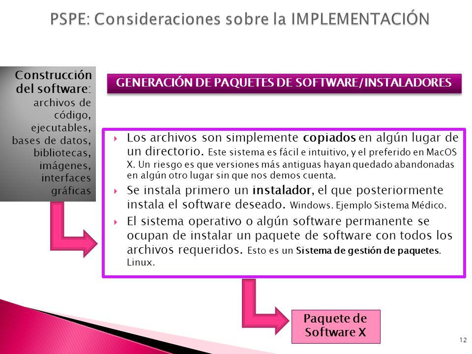 PSPE: Consideraciones sobre la IMPLEMENTACIÓN