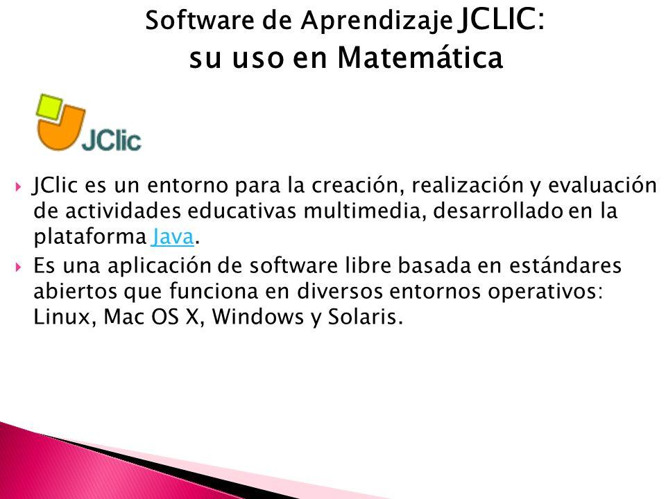 Software de Aprendizaje JCLIC: