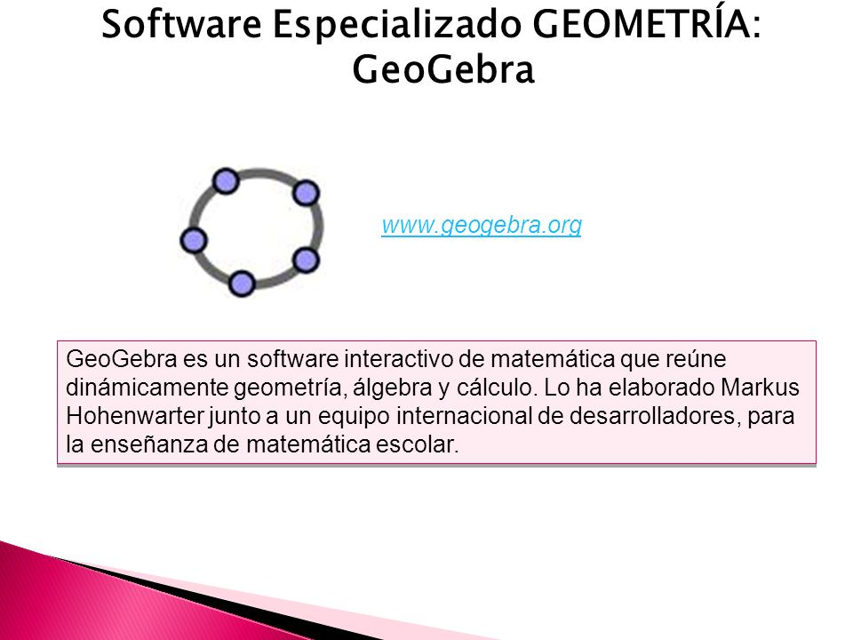 Software Especializado GEOMETRÍA: GeoGebra