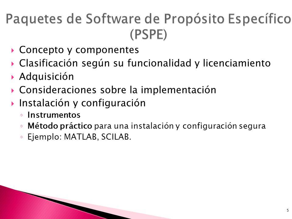 Paquetes de Software de Propósito Específico (PSPE)