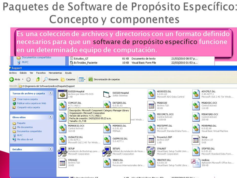 Paquetes de Software de Propósito Específico: Concepto y componentes