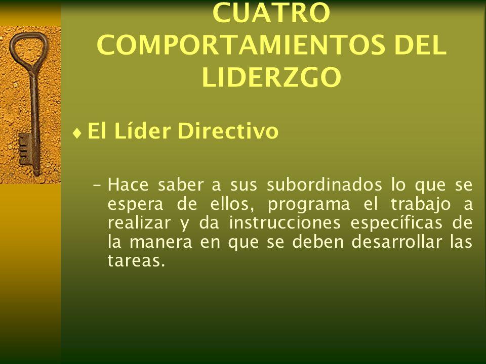 CUATRO COMPORTAMIENTOS DEL LIDERZGO