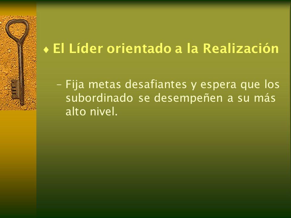 El Líder orientado a la Realización