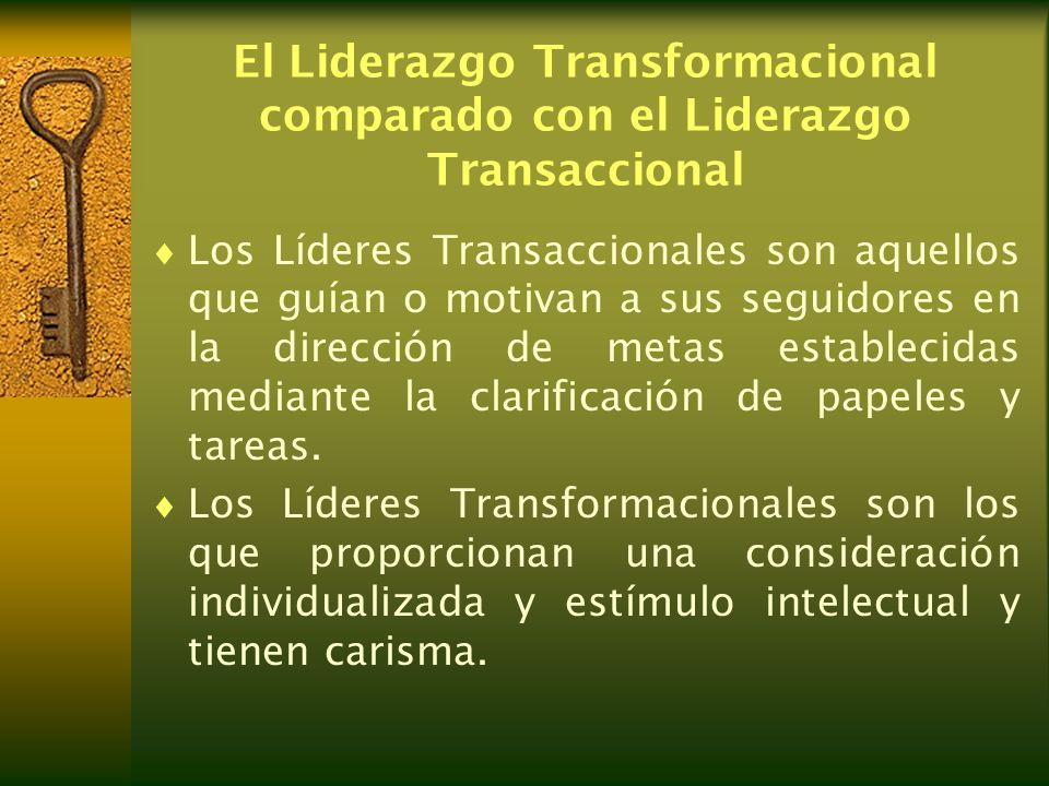 El Liderazgo Transformacional comparado con el Liderazgo Transaccional