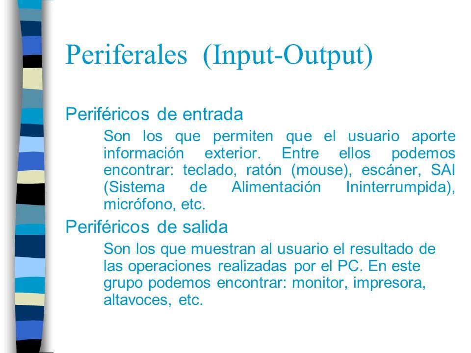 Periferales (Input-Output)