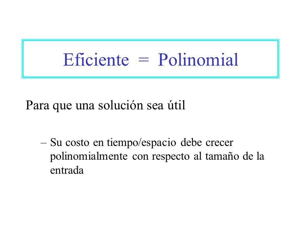 Eficiente = Polinomial
