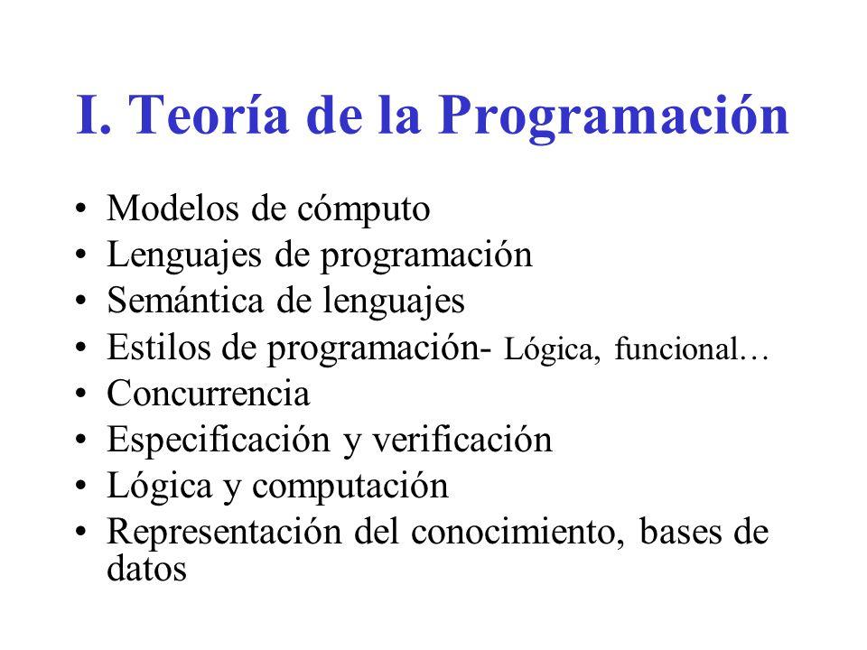 I. Teoría de la Programación