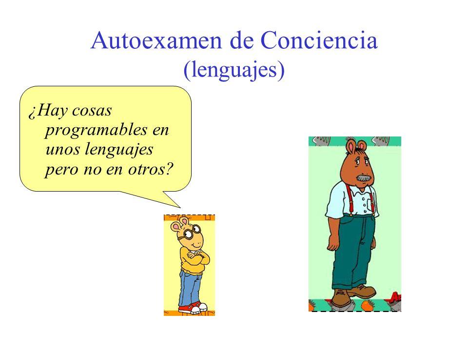 Autoexamen de Conciencia (lenguajes)
