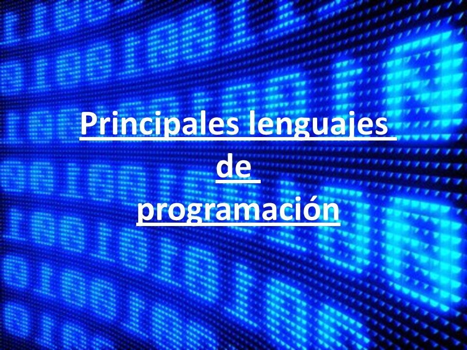 Principales lenguajes