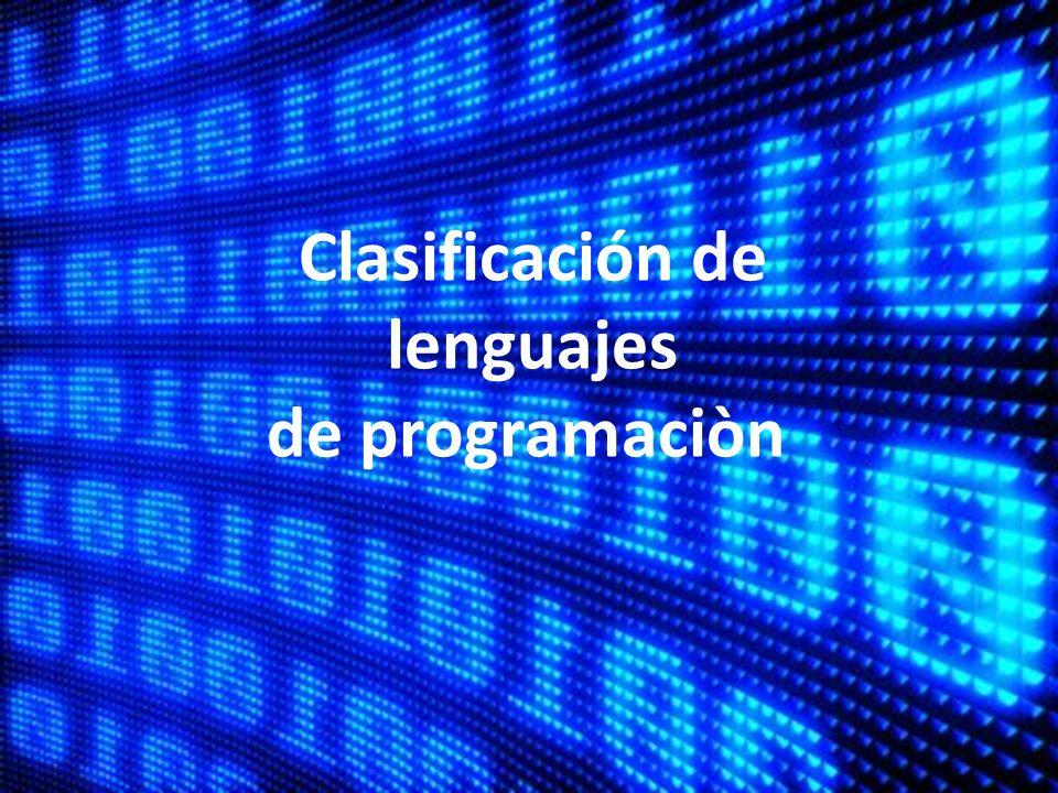 Clasificación de lenguajes