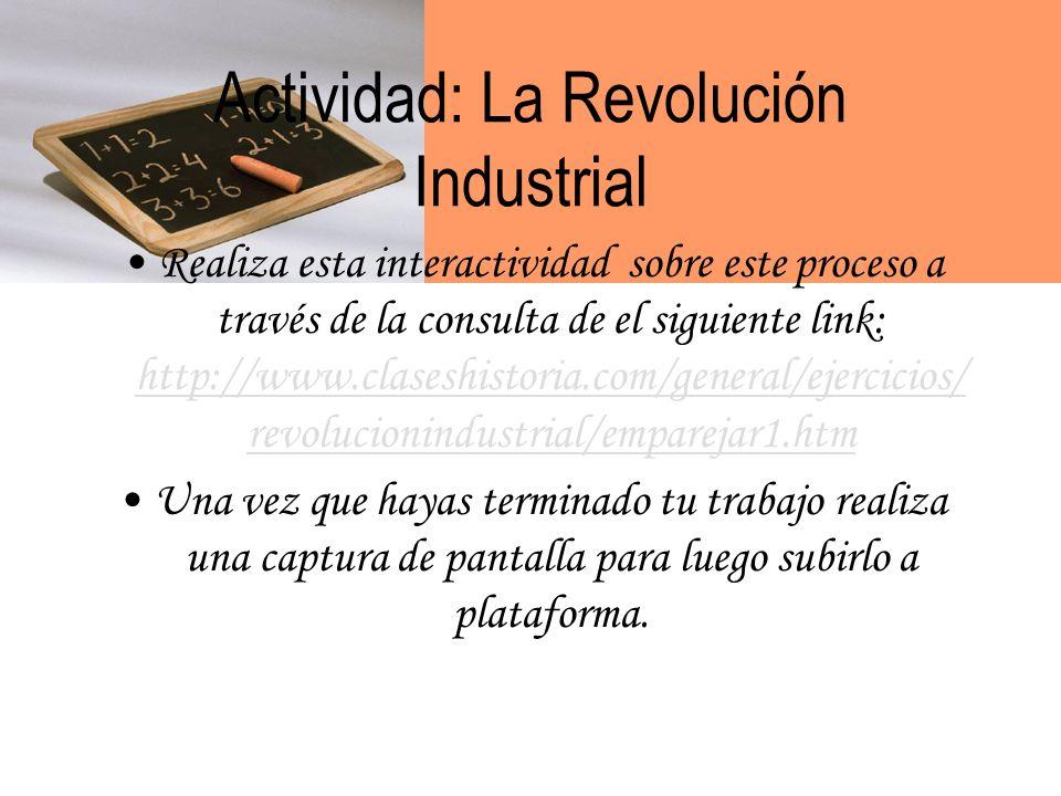 Actividad: La Revolución Industrial