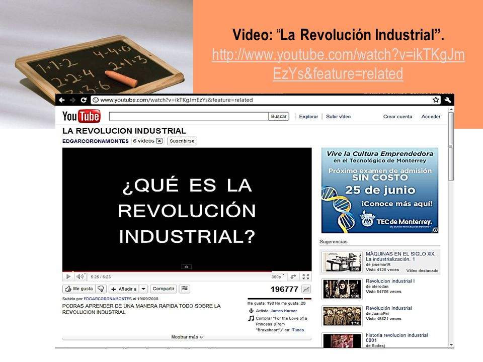Video: La Revolución Industrial . http://www. youtube. com/watch
