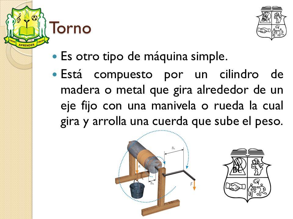 Torno Es otro tipo de máquina simple.