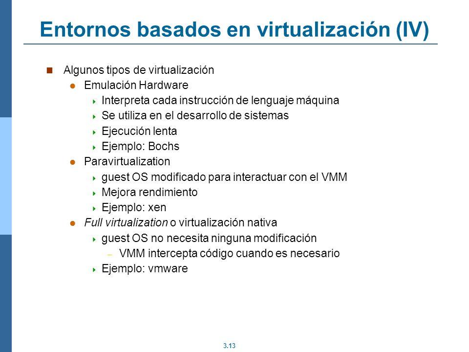 Entornos basados en virtualización (IV)