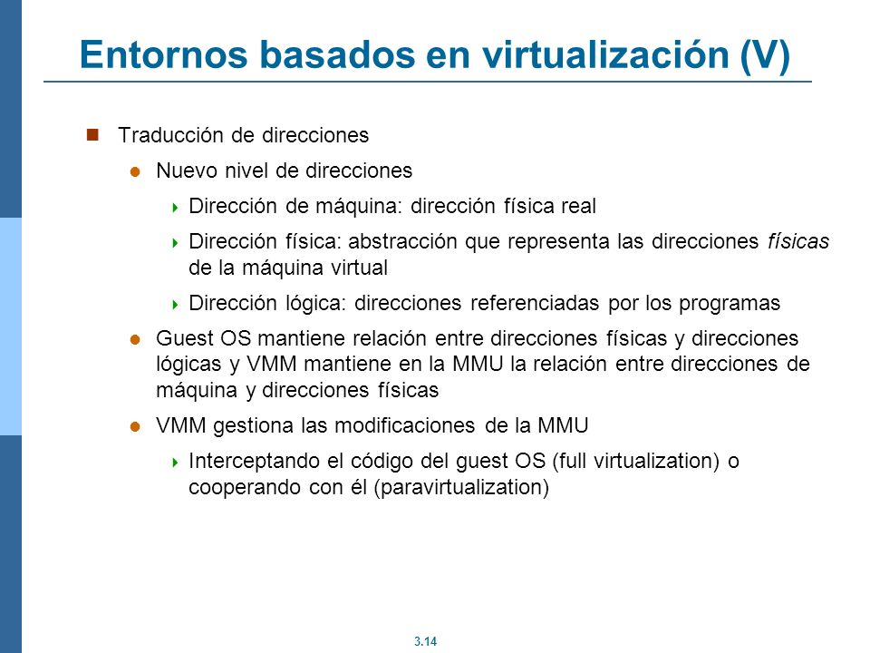 Entornos basados en virtualización (V)