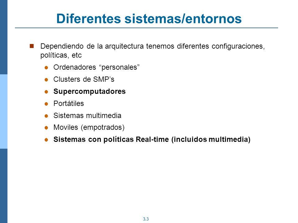 Diferentes sistemas/entornos