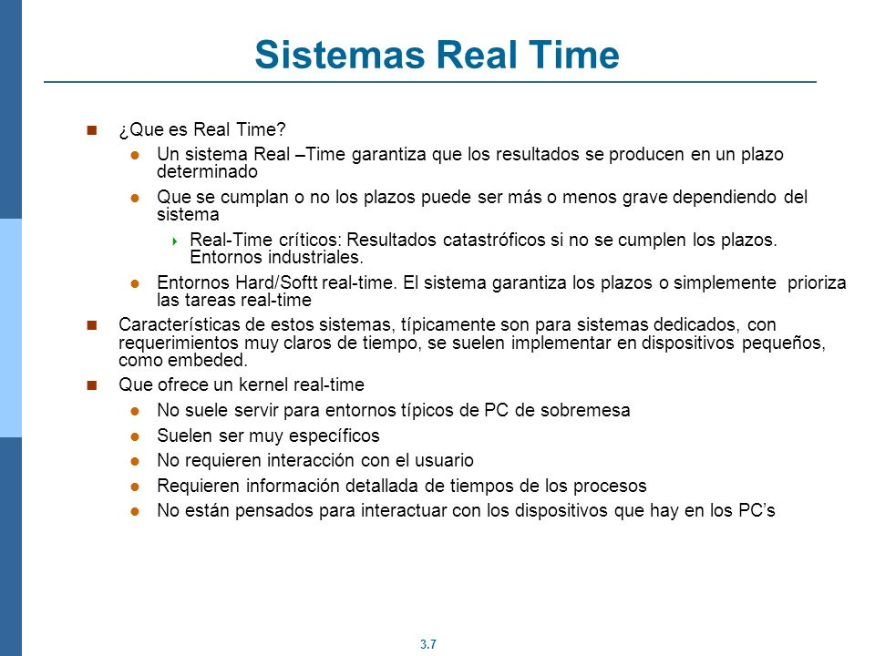 Sistemas Real Time ¿Que es Real Time