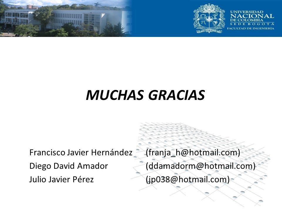 MUCHAS GRACIAS Francisco Javier Hernández (franja_h@hotmail.com)