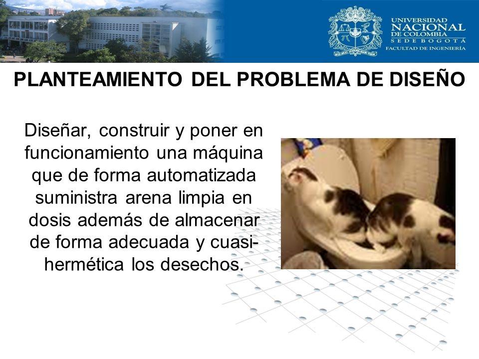 PLANTEAMIENTO DEL PROBLEMA DE DISEÑO