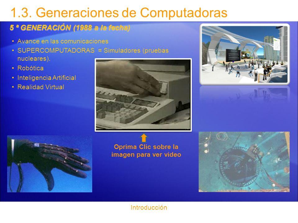 1.3. Generaciones de Computadoras