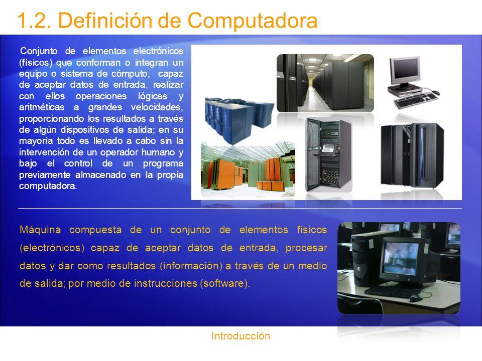 1.2. Definición de Computadora